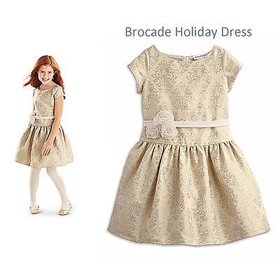 American Girl Cl My Ag Brokat Urlaub Kleid Größe 12 Medium für Mädchen Neuer ()