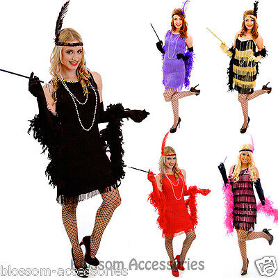 G58 1920s Roaring 20s Black Red Flapper Costume Charleston Dress Gatsby Outfit