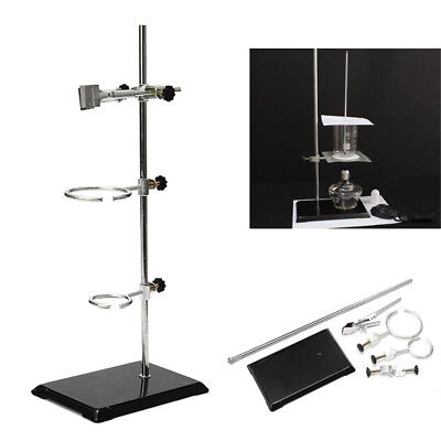 50cm Lab Laboratory Retort Stands Support Clamp Flask Platform Set Experiment