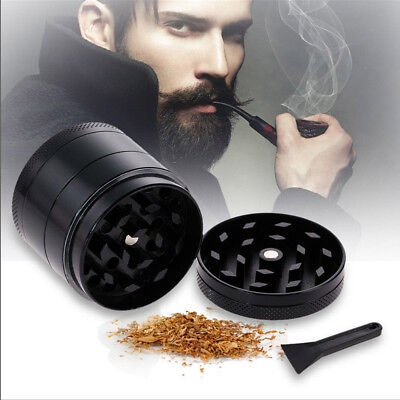 4 Piece 2 Inch Black Tobacco Herb Grinder Spice Herbal Zinc Alloy Weed Crusher