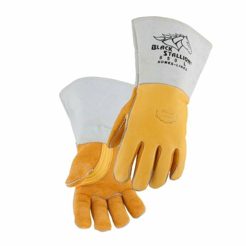 Black Stallion 850 FR Nomex Lined Elkskin Premium Stick Welding Gloves