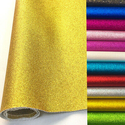 Frosted Glitter Vinyl Fabric Sparkle Faux Leather Craft Material Bows Decor - Craft Materials
