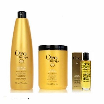 KIT FANOLA SHAMPOO 1000ml + MASCHERA 1000ml + FLUIDO 100ml ORO THERAPY