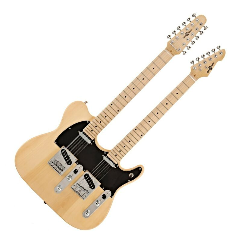 Knoxville Double Neck Guitar by Gear4music Natural