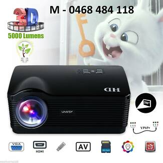 5000Lumens HD Projector LED Projector 3D Home Cinema HDMI/USB/SD