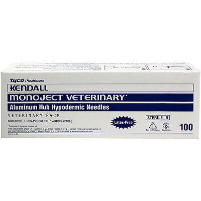 Monoject Veterinary Premium Sterile Disposable Needles Ah 18 X 34 100ct Box