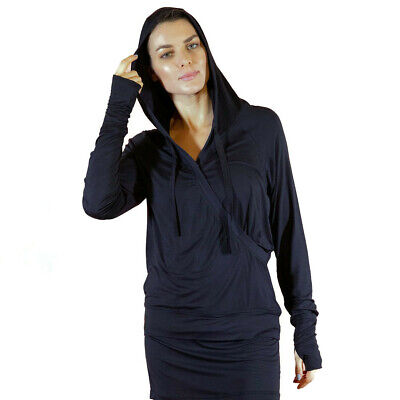 FACEPLANT DREAMS Bamboo® Crossover Hoodie - Black Size Small (Bamboo Crossover)