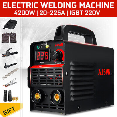 Portable 225a 4200w Mma Arc Welder Igbt Welding Inverter Machine 10pcs Kit Set