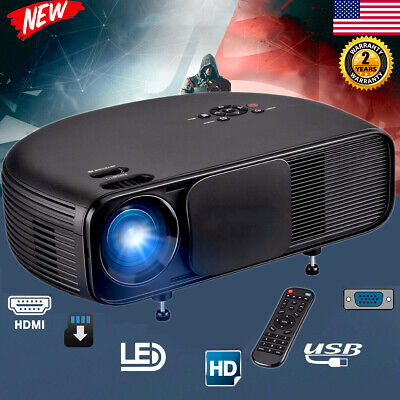 7000Lumens LED Projector Multimedia 3D 1080P Movie Home Theater 2000:1 HDMI USB~