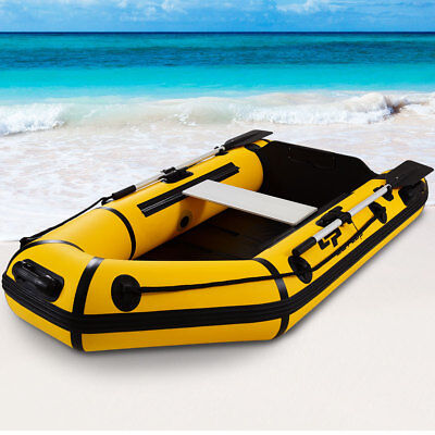 Goplus 2 Person 7 5Ft Inflatable Dinghy Boat Fishing Tender Rafting Water Sports