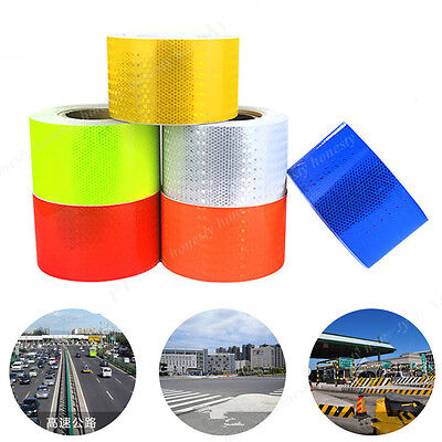 2 10 3m Reflective Safety Warning Conspicuity Tape Film Sticker