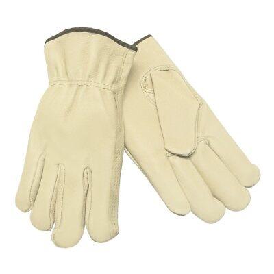 (Memphis Grain Pigskin Leather Driver Work Gloves, 12 Pairs)