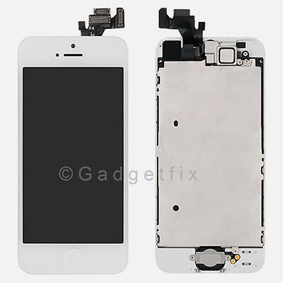 White Touch Screen Glass Digitizer LCD Display Replacement Assembly for iPhone 5 on Rummage