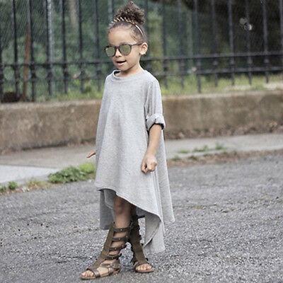 Toddler Baby Girl High Low Dress Long Sleeve Princess Party Dresses Kids - High Low Dresses Kids