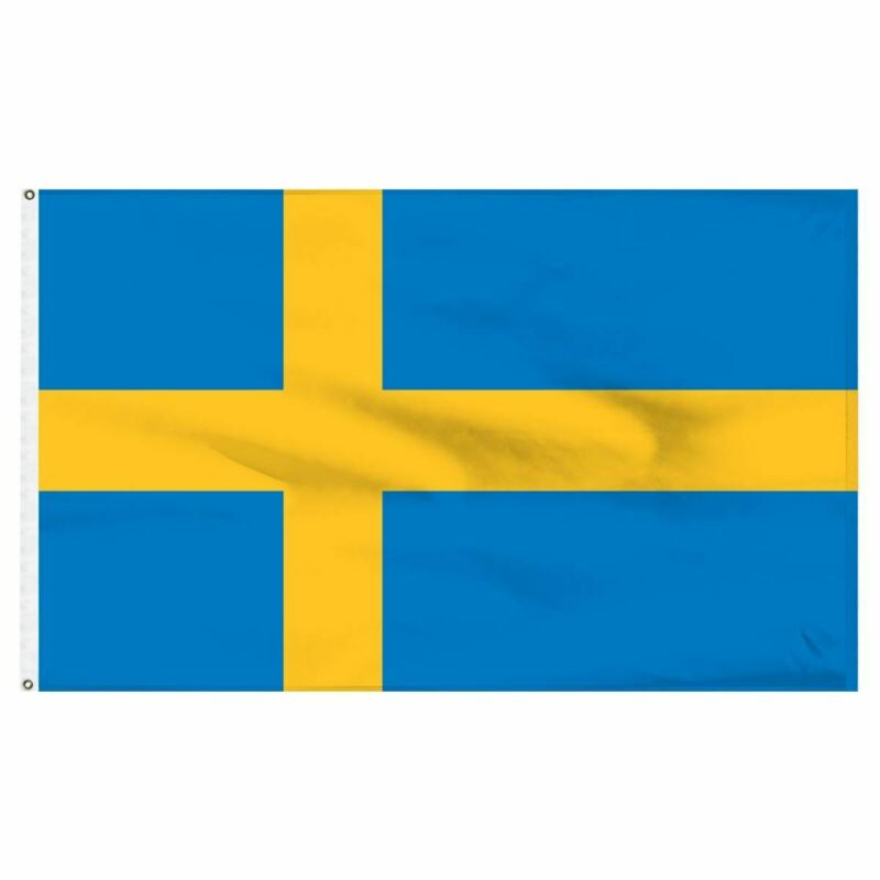 5ft x 3ft Team Sweden Swedish Olympics Football World Cup Supporter Flag