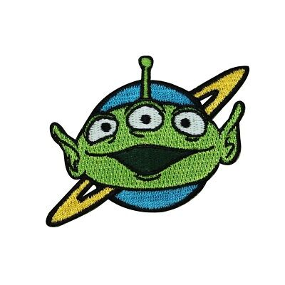 Toy Story Green Alien Iron-On Patch Disney Pixar Movie Character Craft - Halloween Movies Characters