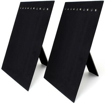 Jewellery - Black Velvet Jewellery Necklace Stand Chain Display Hanger Board Holder Organise