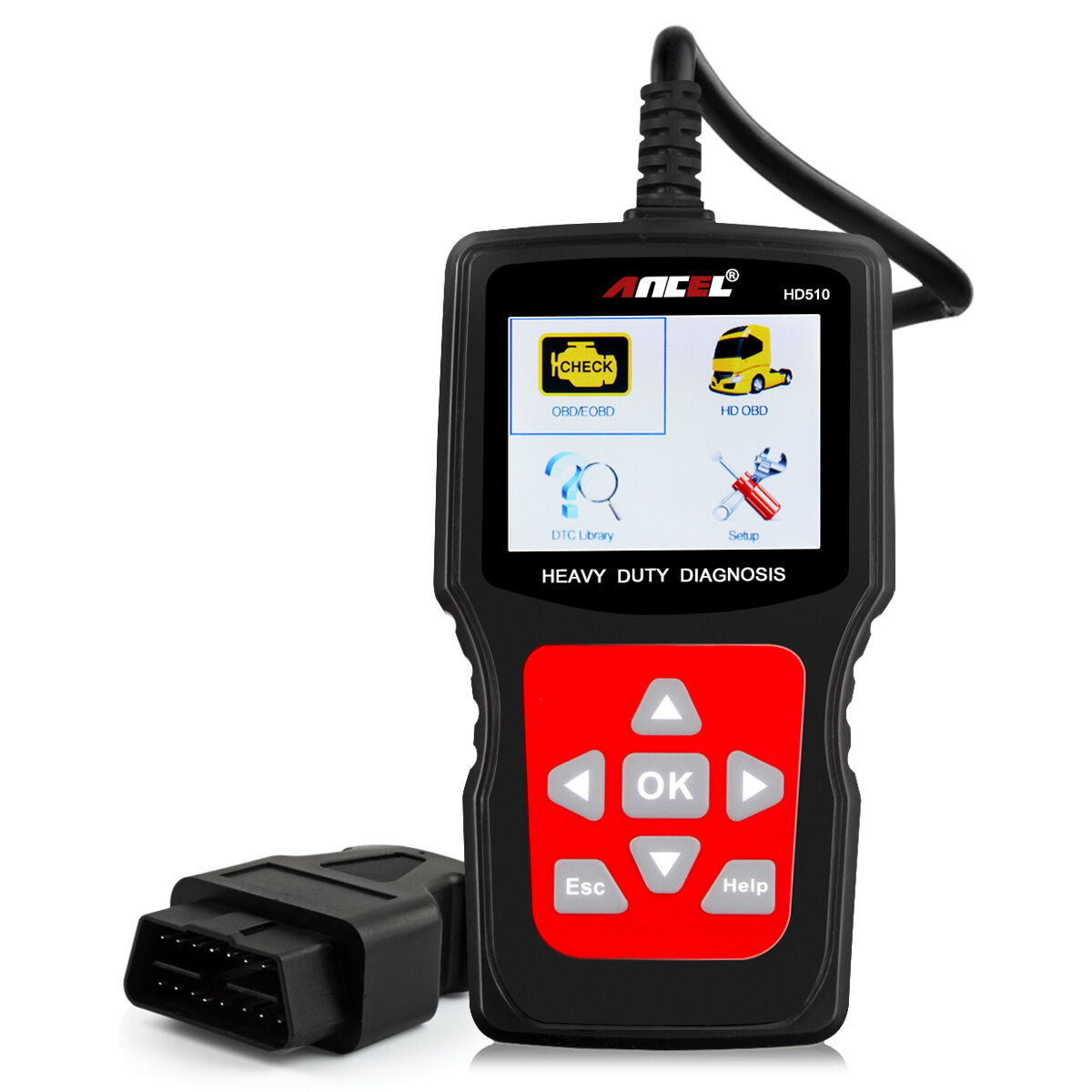 Chevrolet And Toyota Top 10 Cars Used Cars Under 200: Hd510 Scanner Obd2 Hd Code Reader Car Heavy Duty Truck