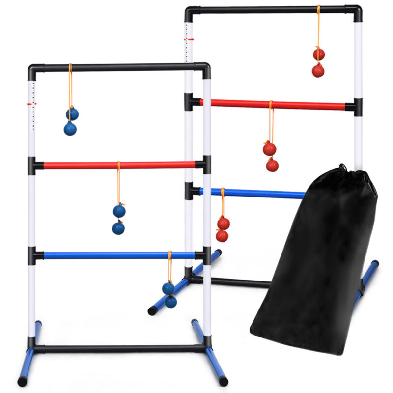Ladder Ball Toss Game Set Indoor Outdoor W/6 Bolas Score Tracker Carrying Bag