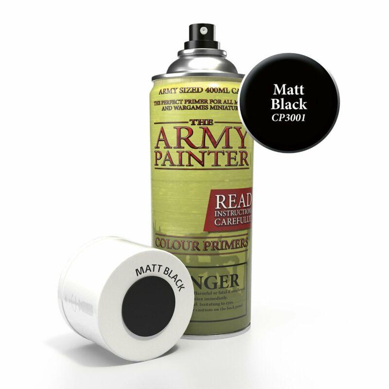ARMY PAINTER MATT BLACK PRIMER SPRAY NEW