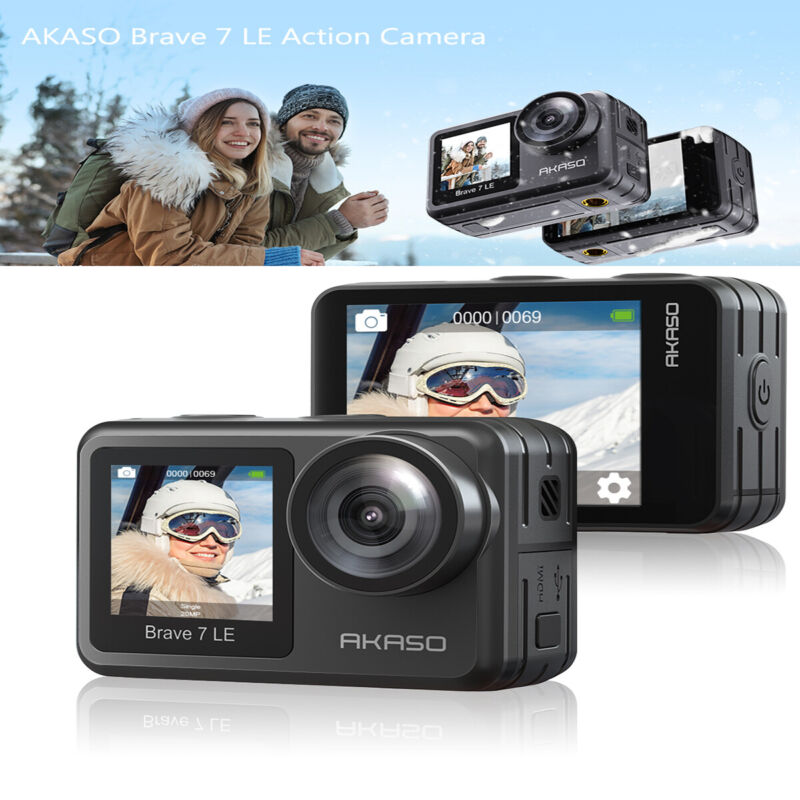 AKASO Brave 7 LE Action Camera 4K HD Vlog WiFi Sport Touch Waterproof  Control