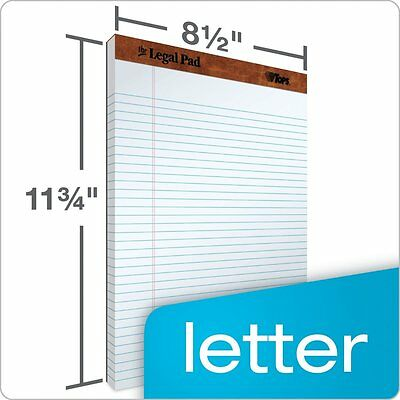 Tops Legal Pad Letter Size Perforated Wide Rule 12 Pads Pack 50 Sheets Per Pad