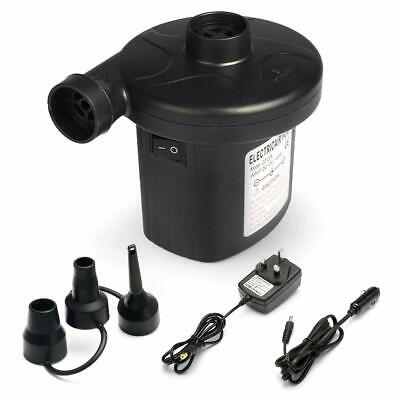 2 in 1 Electric Air Pump Inflator 12V Car & 240V For Pools, Boats,raft, Airbeds