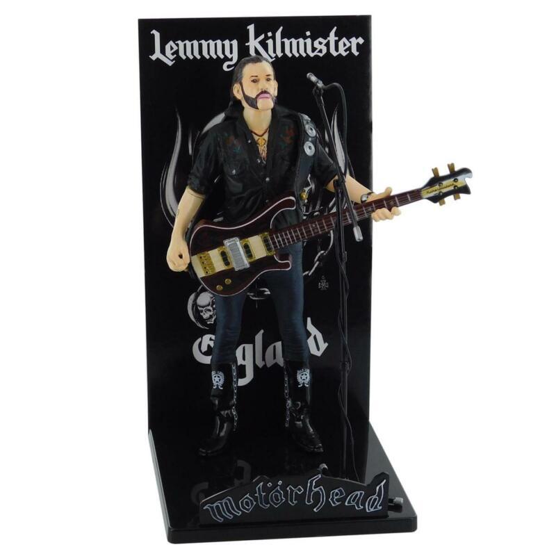 Motorhead Lemmy Kilmister Deluxe Figure Rickenbacker Guitar Dark Wood
