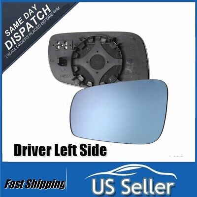 Left Driver Side Mirror Heated Glass Blue For Volkswagen VW Jetta PASSAT Golf