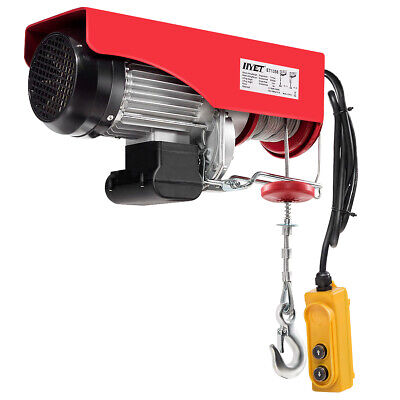 2200lbs Electric Hoist Crane Remote Control Garage Winch Auto Shop Overhead Lift