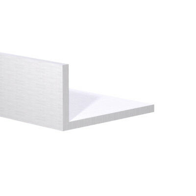 Aluminum Angle 1-12 X 12 X 116 Wall 3 Foot Length Clear Anodized