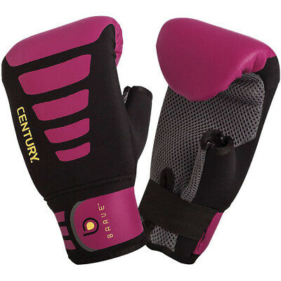 Century Women's Brave Neoprene Slip-On Boxing Bag Gloves - Black/Pink