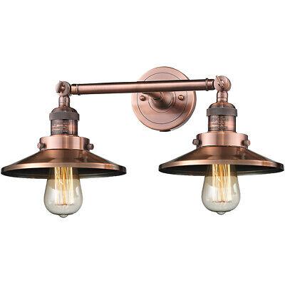 Innovations Lighting 208-AC-M3 Railroad Bathroom Vanity Light Antique Copper