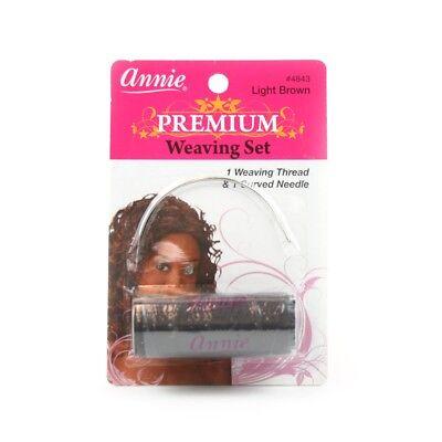 (3,99€/1Stk) Annie Premium Weaving Set - Light Brown Weaving-Faden und Nadel