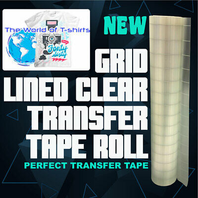12 X 30 Feet Roll Clear Transfer Tape W Grid For Adhesive Vinyl