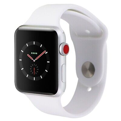 Apple Watch Series 3 (42mm) - A1861 Silver Case & White Sport Band GPS + LTE