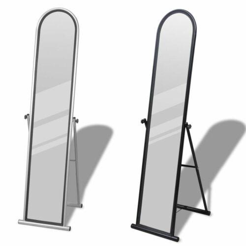 vidaXL Standspiegel Spiegel Ankleidespiegel Ganzkörperspiegel Schwarz/Grau