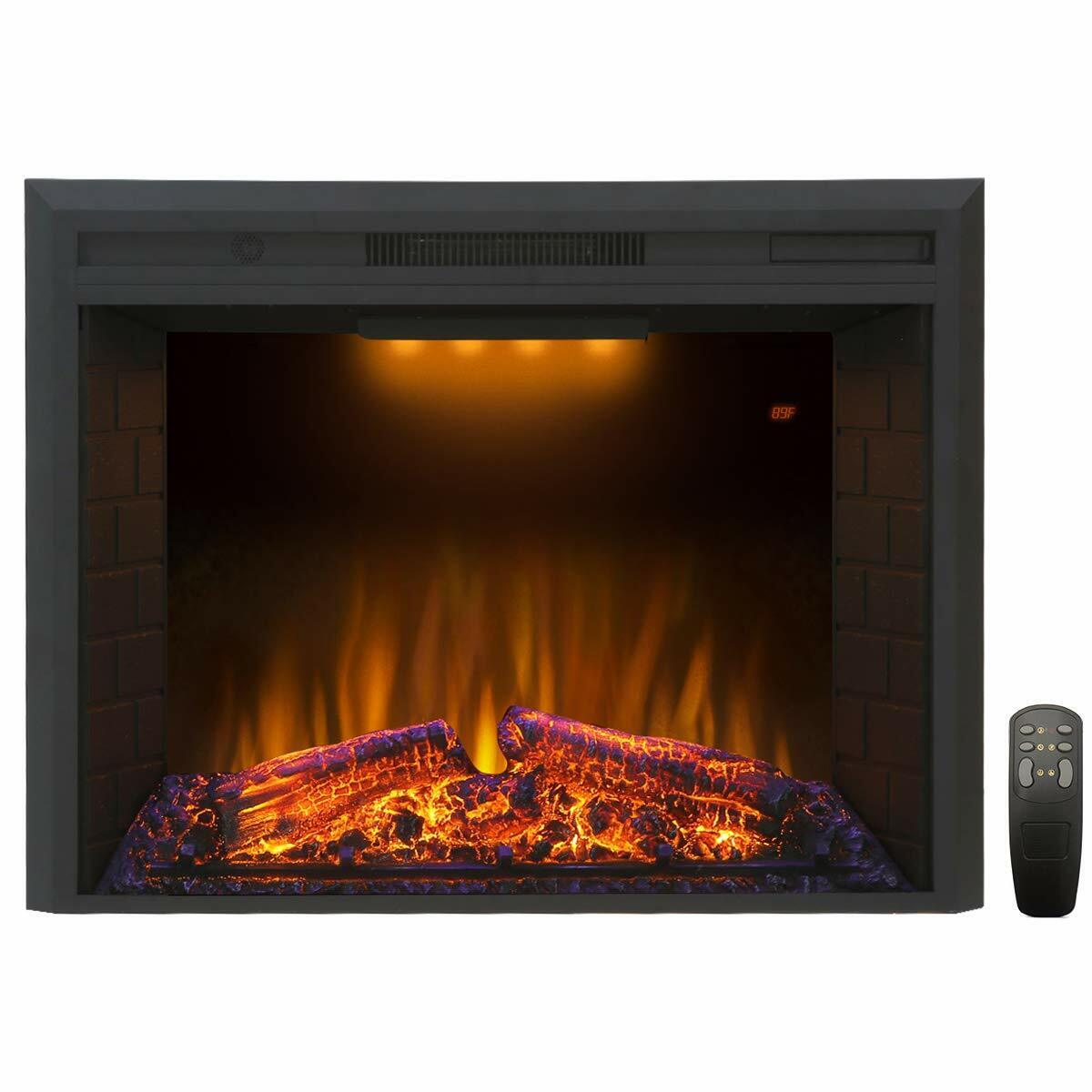 "Valuxhome Houselux 30"" Embedded Fireplace Electric Insert He"