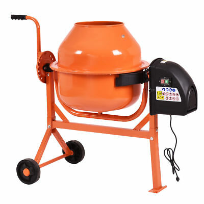 2 15 Cu Ft Portable Electric Concrete Cement Mixer Stucco Mortar Barrow Machine