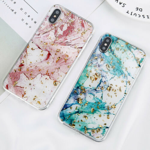 For iPhone XS Max XR X 8 7 6 Plus Bling Glitter Thin Soft TPU Pattern Case Cover