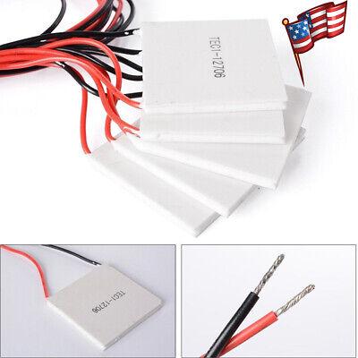5pcs Tec1-12706 Heatsink Thermoelectric Cooler Cooling Peltier Plate Module Us