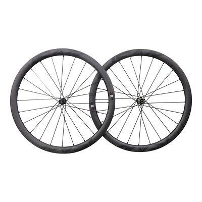 ICAN 40mm Carbon Disc Road Bike Clincher Wheelset Center Lock 12*100/12*142mm