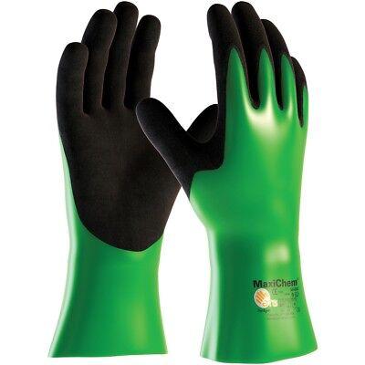 Maxichem 12 Nitrile Coated Nylon Lycra Chemical Work Gloves
