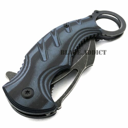 """8"""" Spring Assisted Open Folding Pocket Knife Karambit Claw Combat Tactical New"""