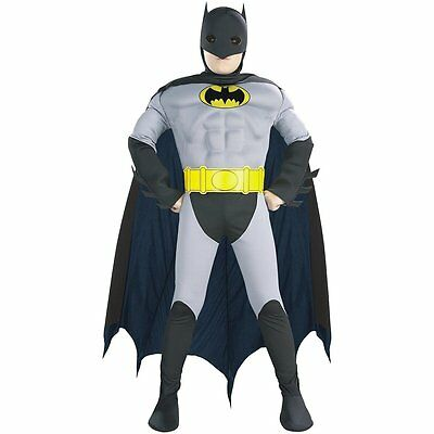 DC Heroes Batman Deluxe Muscle Chest Child Boys Costume Gray / Black
