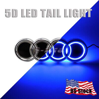 Illuminated 4D LED Car White Tail Rear Logo Badge Emblem Light Suit For BMW