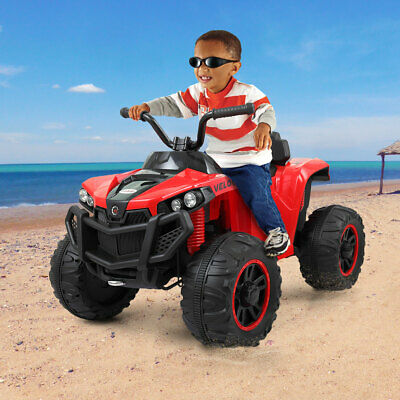 Electric Car Kids Ride On ATV Quad 6V Powered Double Motor 4-Wheels Toy Car Red