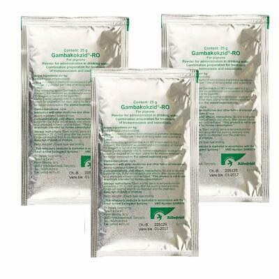 Rohnfried Gambakokzid x3 25g sachets - Racing Pigeons Canker & Coccidiosis