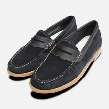 Navy Blue Suede Womens Bass Penny Loafers   eBay