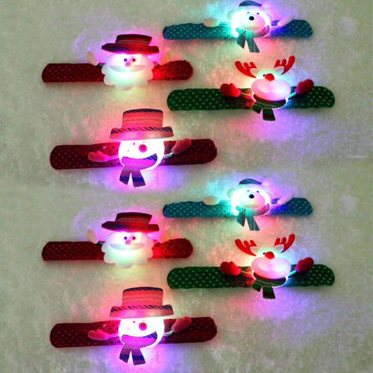 LED Slap Band Glowing Wristband Light Up Bracelet For Christ